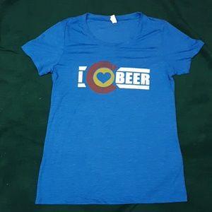 I Love Colorado Beer women's t-shirt